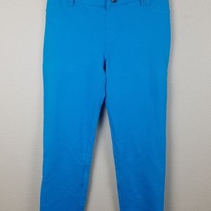 SO Adjustable Waist Knit Jegging Turquoise 16 NWT